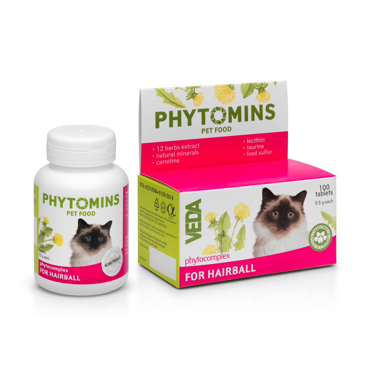 Phytomins-distillation of wool-cats