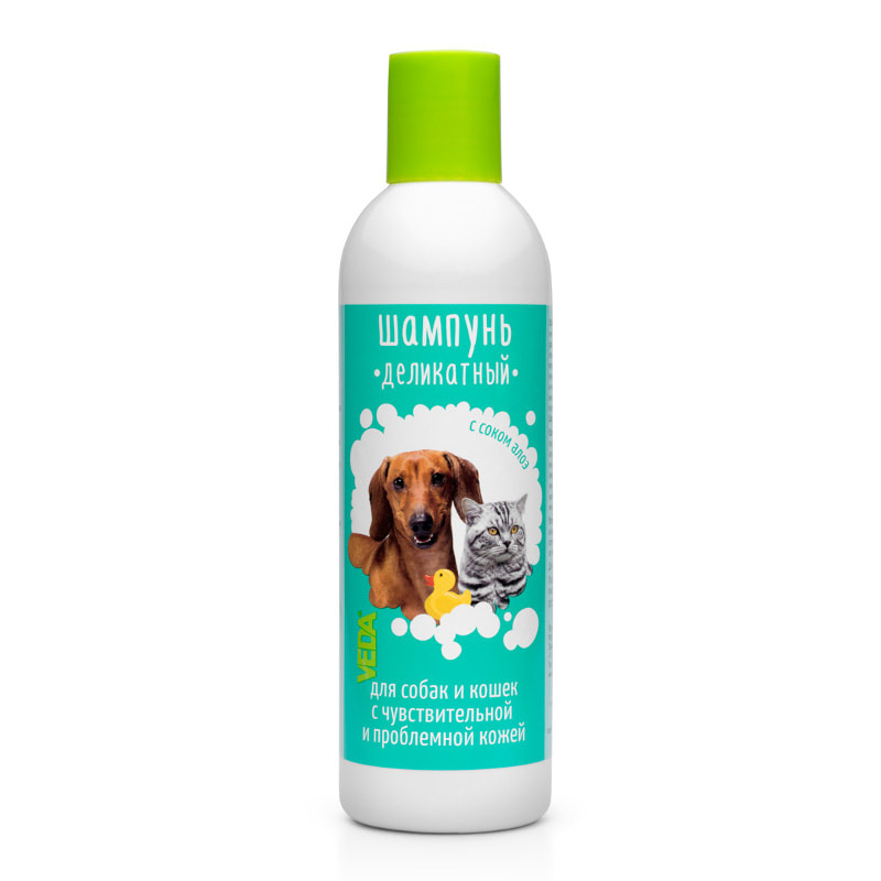Delicate shampoo for dogs and cats