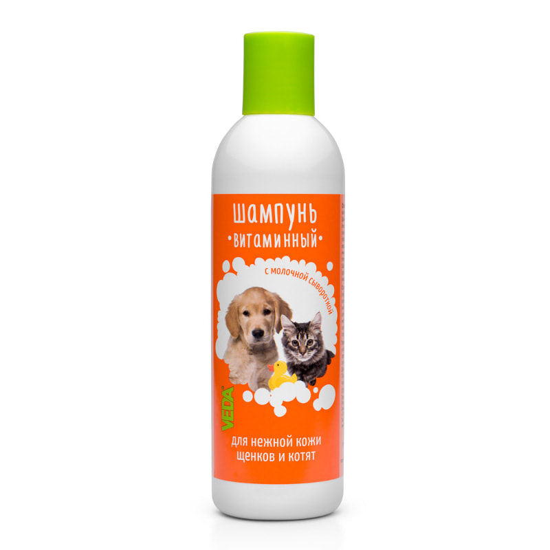 Vitamin shampoo for puppies and kittens