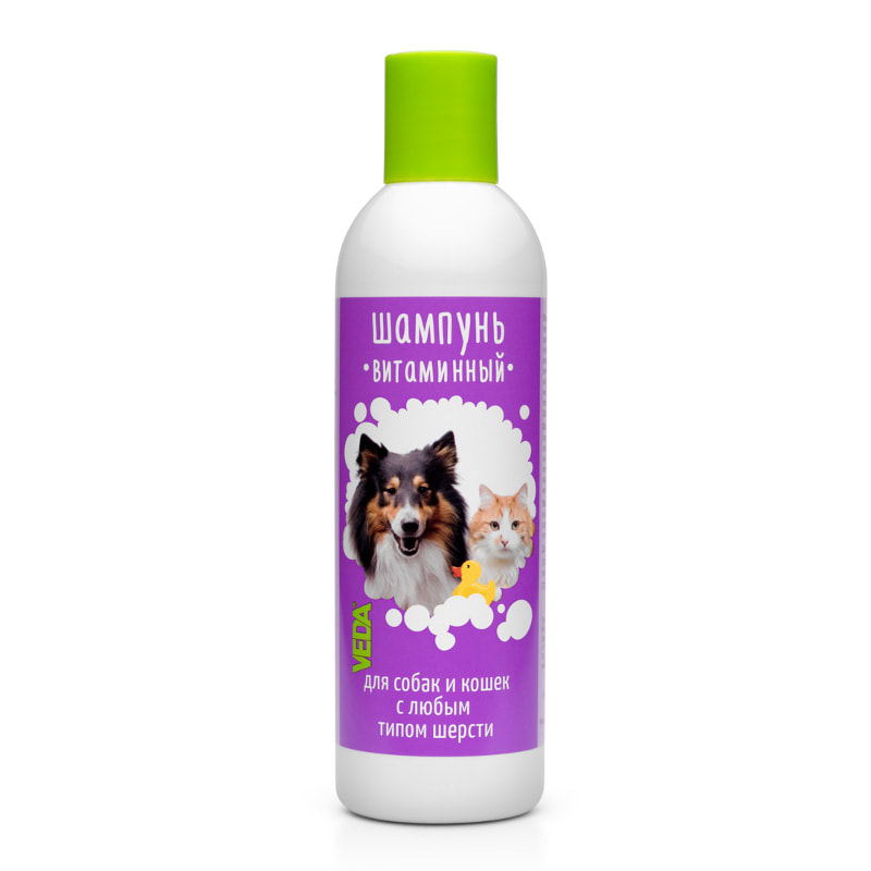 Vitamin shampoo for dogs and cats